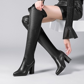 Ericdress Fashion Plain Slip-On Knee High Boots