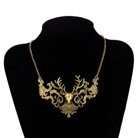 Ericdress Retro Metal Hollow Out Necklace for Christmas
