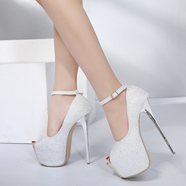 Ericdress Peep Toe Buckle Platform High Heel Shoes