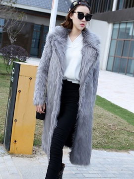 Ericdress Lapel Feather Mid-Length Wrapped Coat