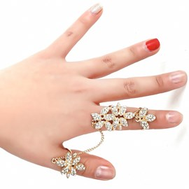 Ericdress Charming Diamante Flower All Ring for Women