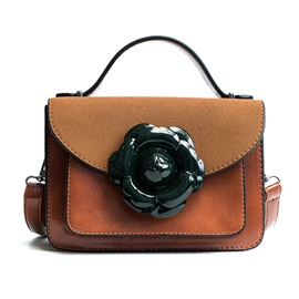 Ericdress Floral Decoration Color Block Crossbody Bag