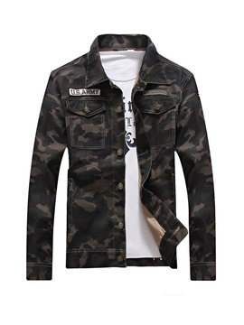 Ericdress Camouflage Zipper Casual Slim Men's Jacket