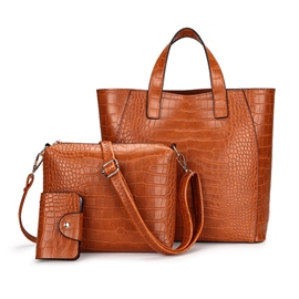 Ericdress Casual Crocodile Pattern Zipper Women Handbag