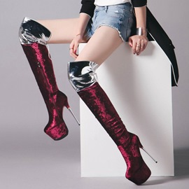 Ericdress Fashion Color Block Platform Knee High Boots