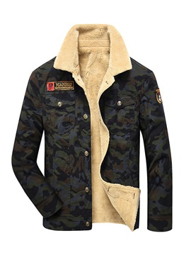 Ericdress Camouflage Fleece Lined Thicken Men's Winter Coat