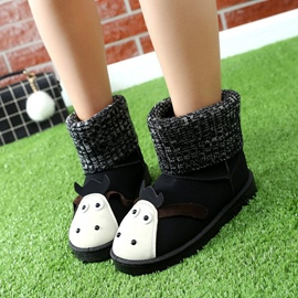 Ericdress Lovely Animal Slip-On Plain Snow Boots