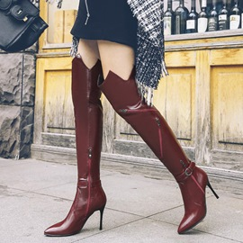 Ericdress Fashion Buckle Pointed Toe Thigh High Boots