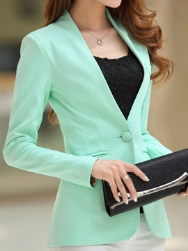 Ericdress Simple couleur Candy manches longues Blazers