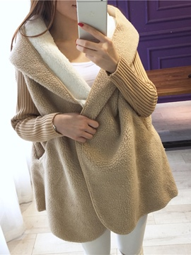 Ericdress Loose Hooded Cardigan Knitwear