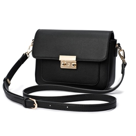 Ericdress Casual Solid Color PU Crossbody Bag
