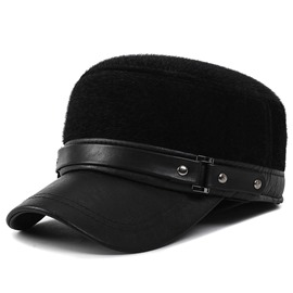 Ericdress Outdoor Thicken PU Men's Hat