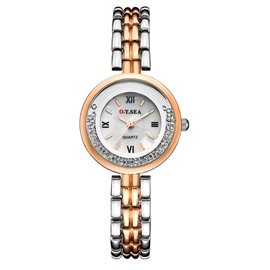 Ericdress Ball Bearing Dial Steel Band Quartz Watch for Women