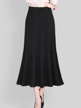 Ericdress Plain A-Line Ankle-Length Women's Skirt