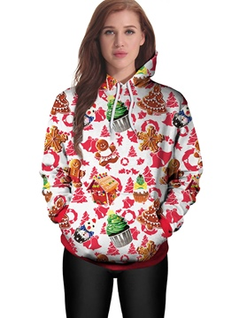 Ericdress Christmas Gift Loose Cool Hoodie