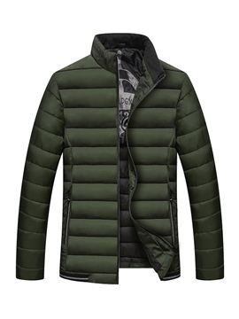 Ericdress Plain Zip Thicken Slim Men's Winter Coat