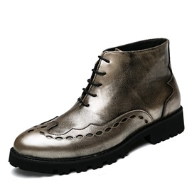 Ericdress Fashion Round Toe Plain Men's Ankle Boots