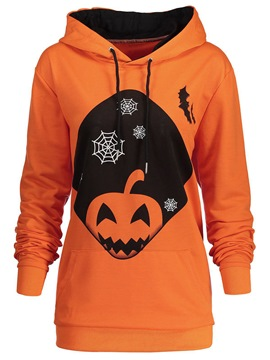 Ericdress Halloween Cartoon Pumpkin Cool Hoodie