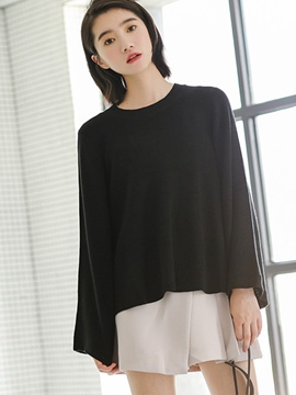 Ericdress Loose Thin Plain Flare Sleeve Knitwear