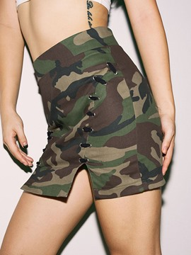 Ericdress Camouflage High-Waist Slim Women's Mini Skirt