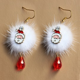 Ericdress Santa Claus Deer Element Earring for Christmas