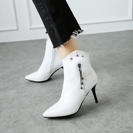 Ericdress Fringe Pompon Pointed Toe High Heel Boots