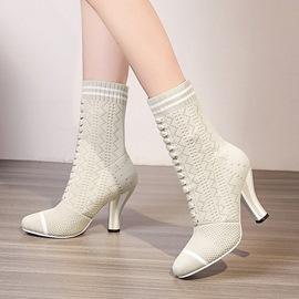Ericdress Stripe Slip-On Women's Sock Boots