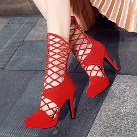 Ericdress Sexy Hollow Platform High Heel Boots