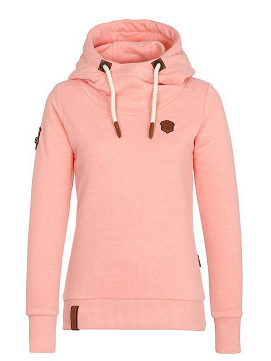 Ericdress Slim Plain Thick Cool Hoodie