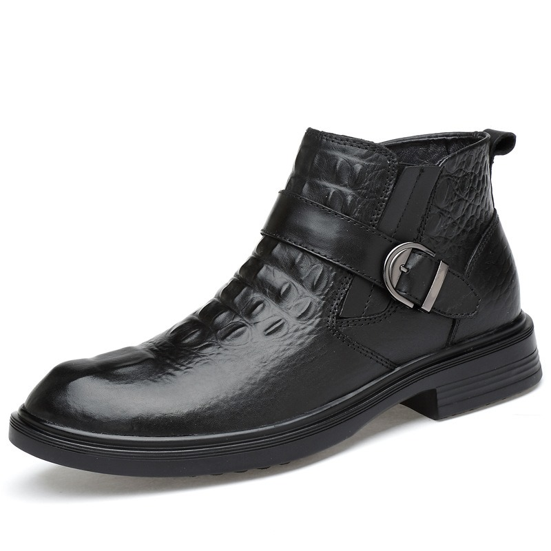 Ericdress Fashion Buckle Slip-On Plain Mens Boots