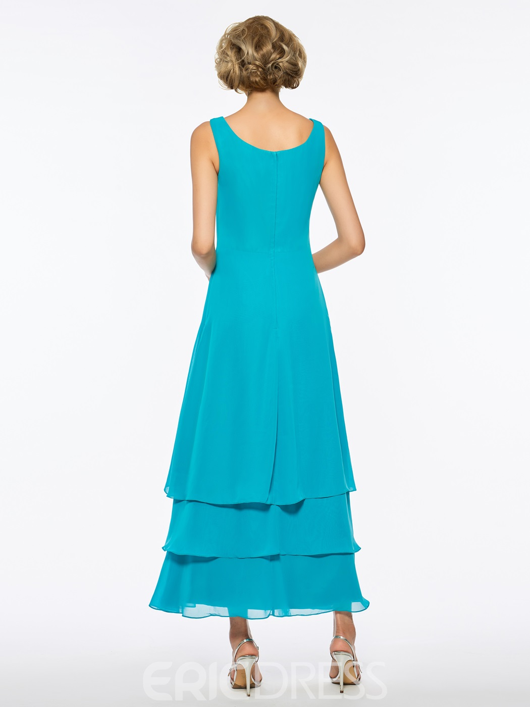 Ericdress Scoop Chiffon A Line Ankle Length Mother of The Bride Dress