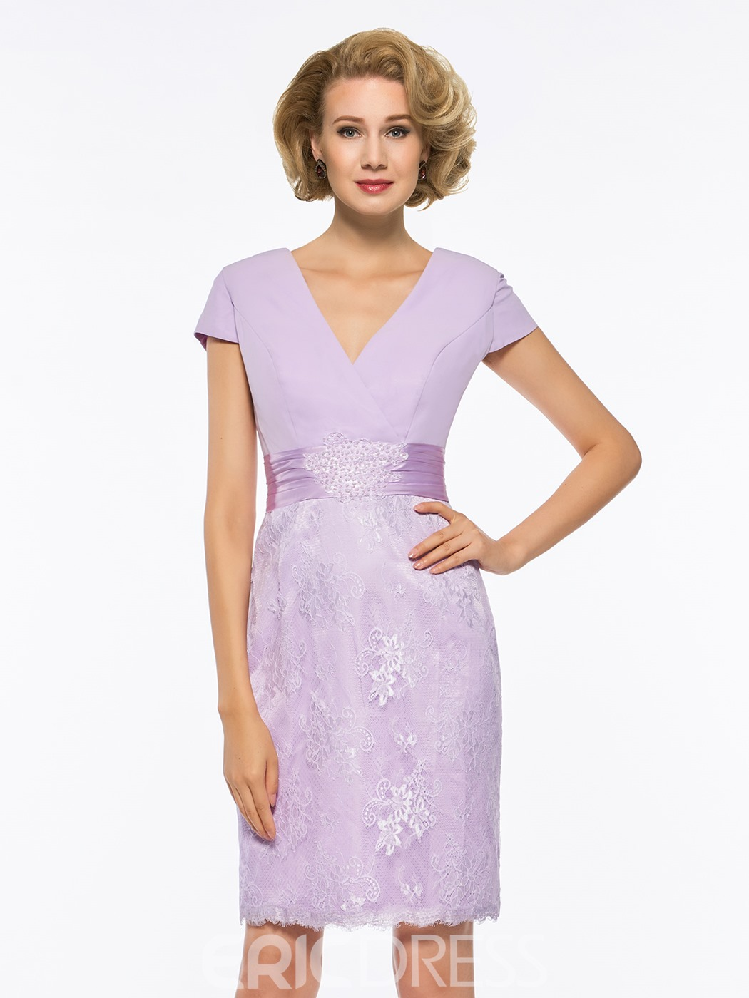 Ericdress Lace Knee Length Mother of The Bride Dress