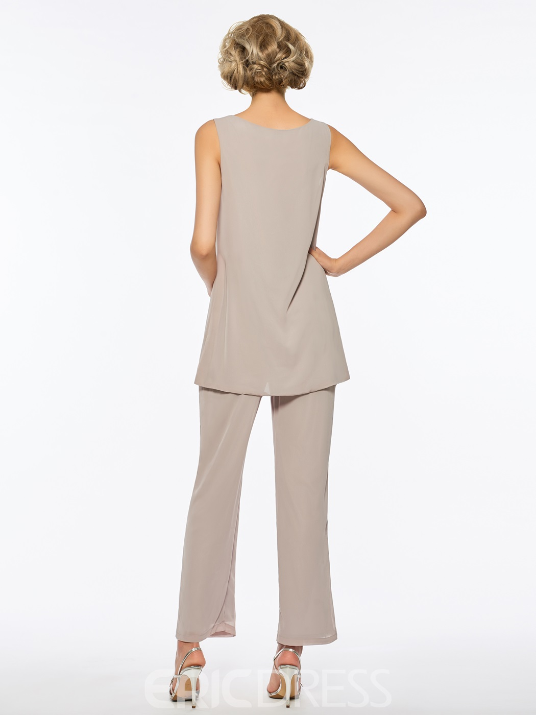 Mother of The Bride Jumpsuit Chiffon Long Sleeves