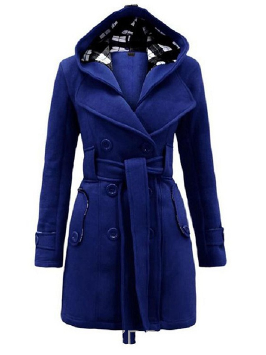 Ericdress Euro-American Style Hooded Trench Coat