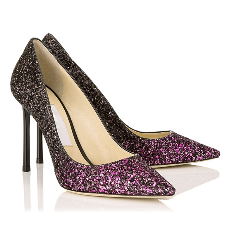 Ericdress Glitterring Sequin Gradient Stiletto Heel Pumps