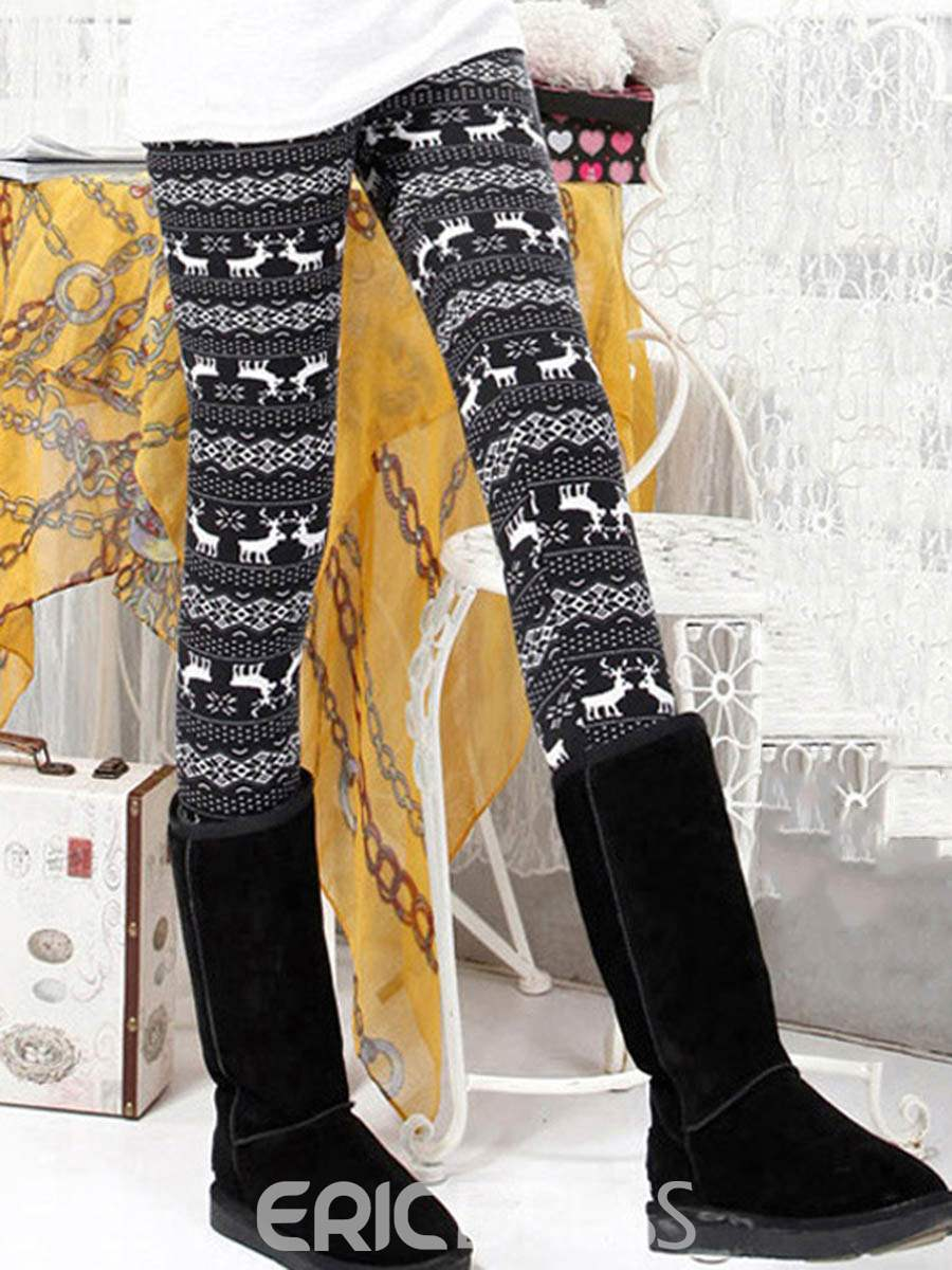 Ericdress Thick Print Women's Leggings