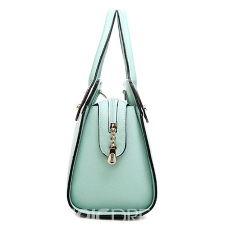 Ericdress Occident Style Solid Color Women Zipper Handbag