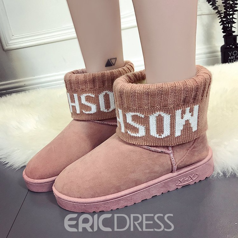 Ericdress Winter Slip-On Women's Snow Boots