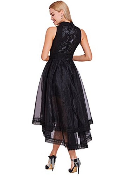 Ericdress Chic A Line High Low Lace Asymmetry Prom Dress