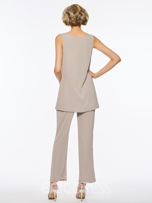 Ericdress Loose 3 Pieces Long Sleeves Mother of The Bride Pantsuits