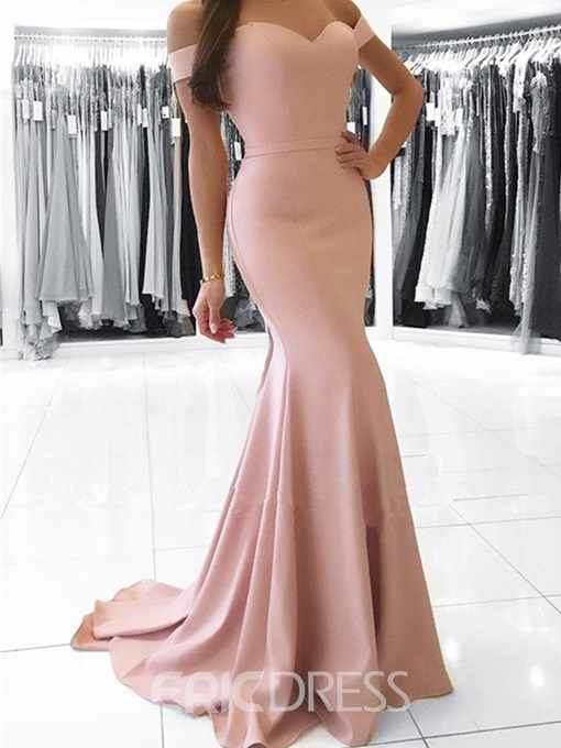 Ericdress Off The Shoulder Mermaid Simple Evening Dress