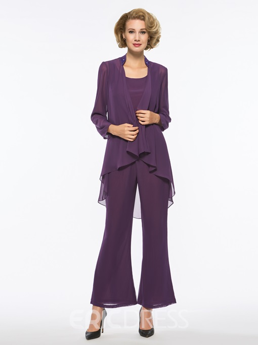 Ericdress 3 Pieces Long Sleeve Mother of The Bride Pantsuits