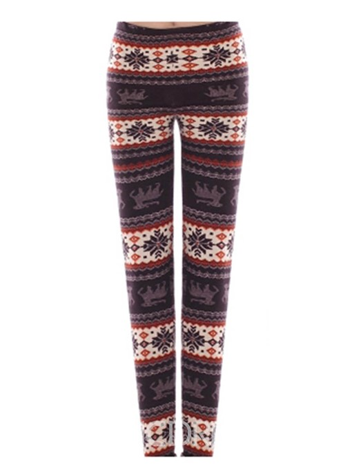 Ericdress Thick Print Winter Women's Leggings Pants