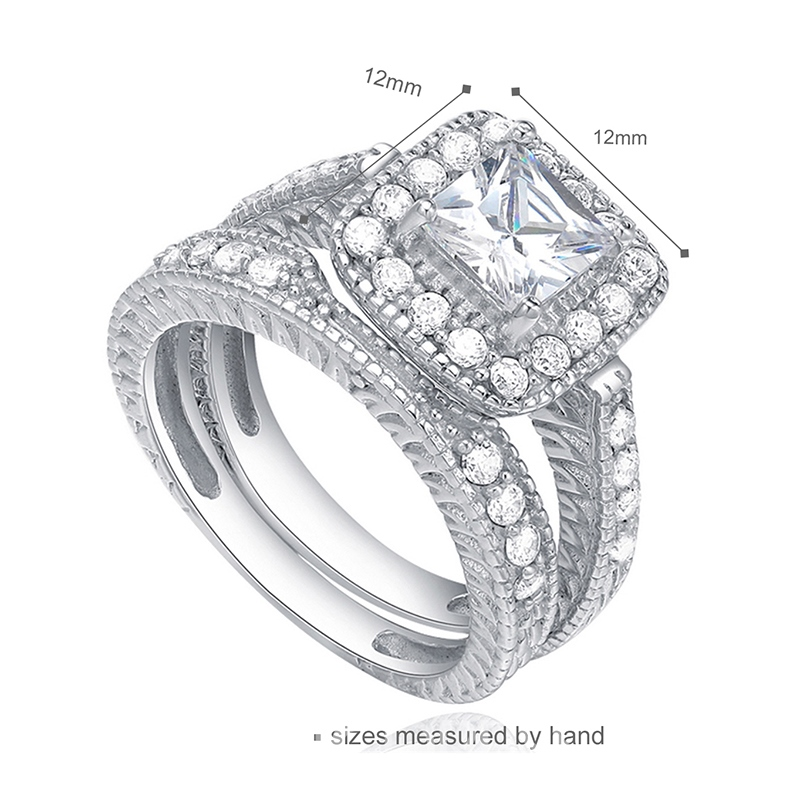 MarkChic White Sapphire Created Women's Bridal Set