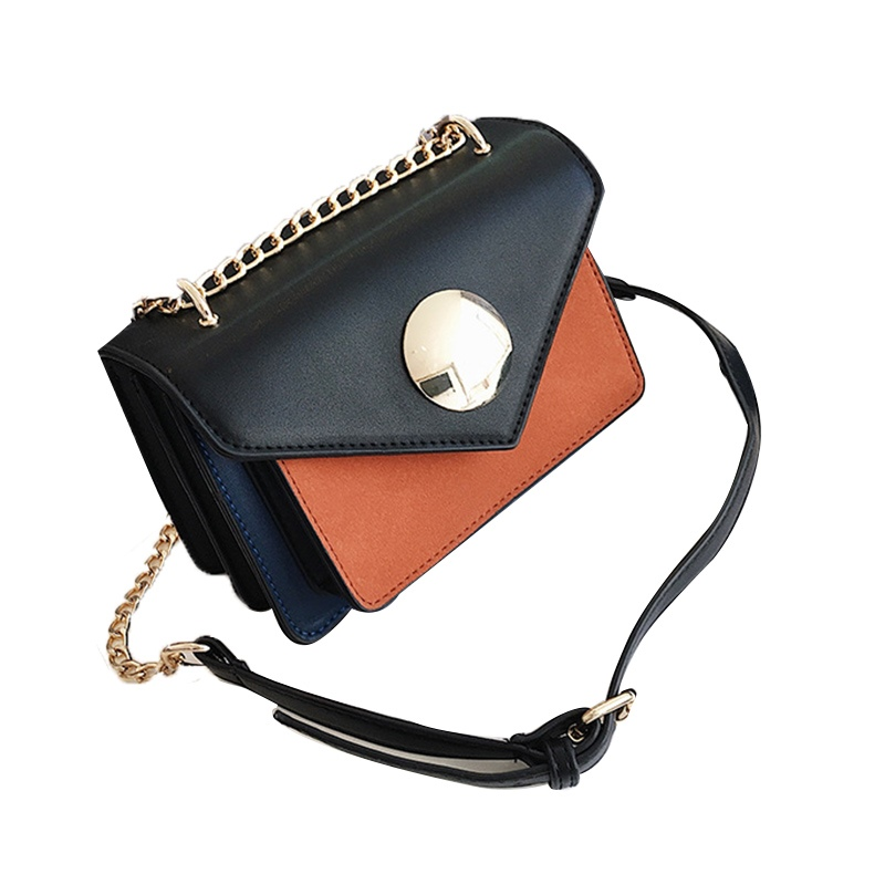 Ericdress Casual Color Block PU Crossbody Bag