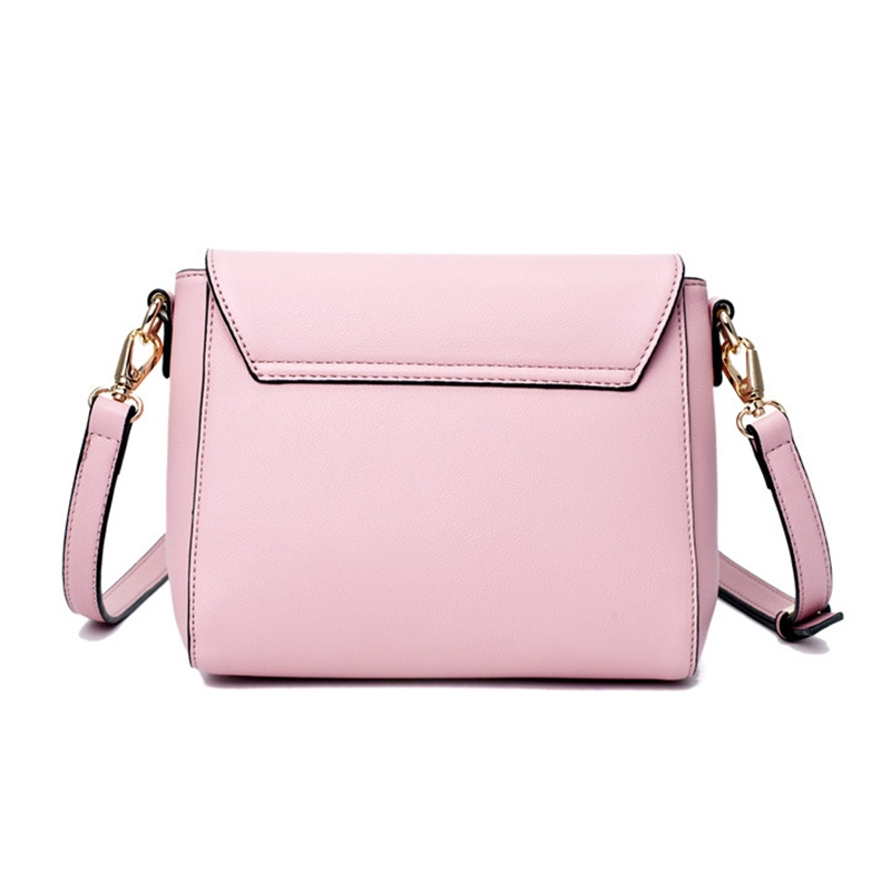 Ericdress Ladylike Solid Color Crossbody Bag