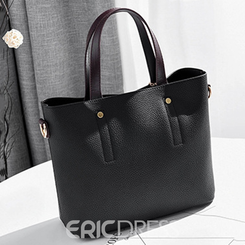 Ericdress Korean Style Classic Sewing Thread Handbag