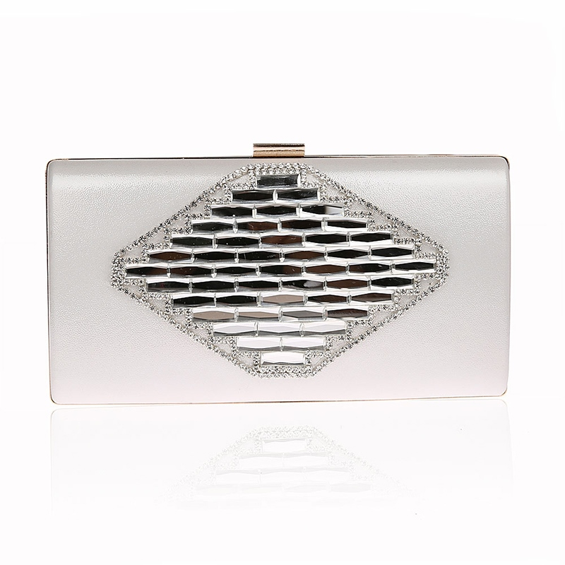 Ericdress Elegant Rhomb Rhomb Solid Color Evening Clutch
