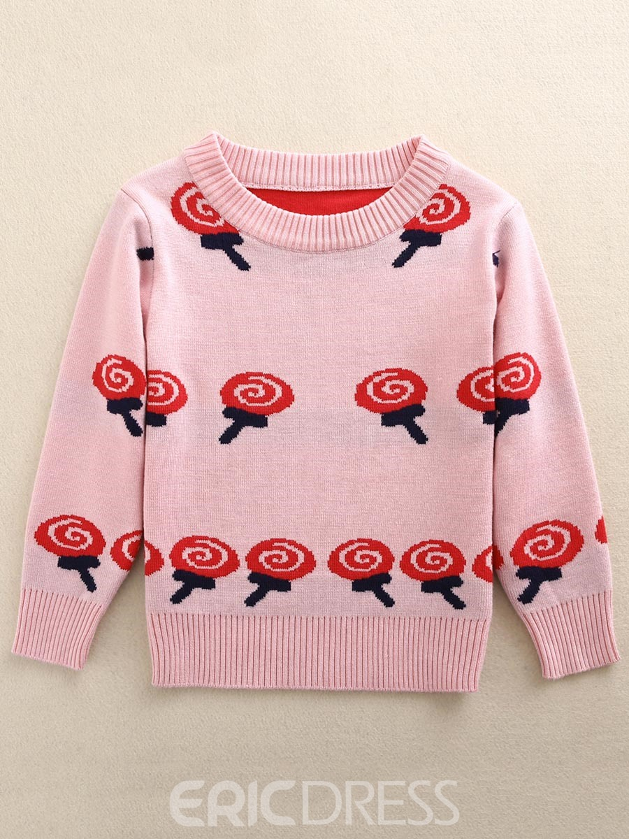 Ericdress Lovely Lollipop Print Long Sleeve Sweater