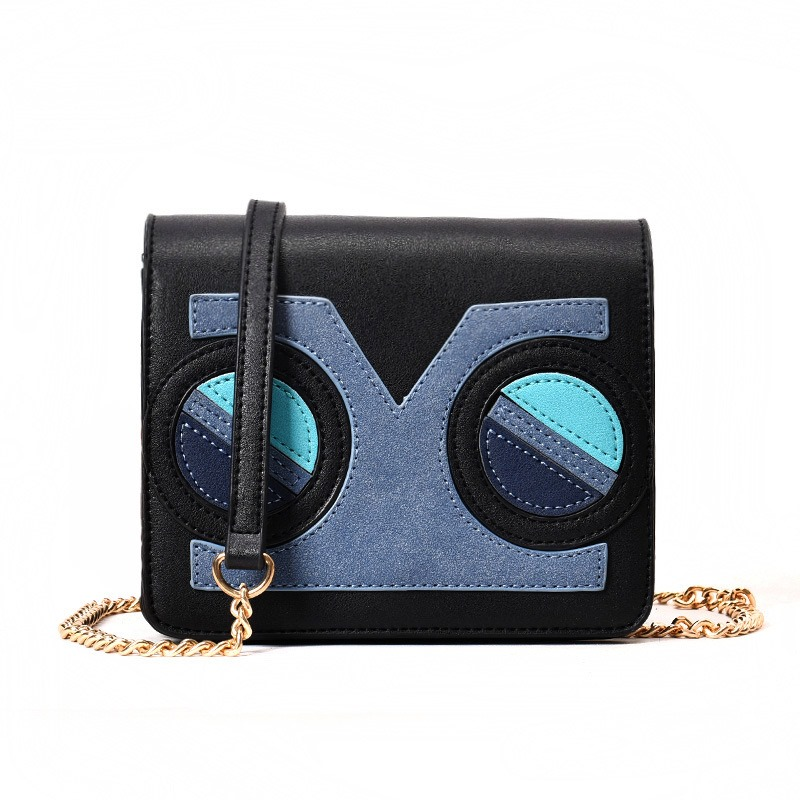 Ericdress Personality Design Color Block Chain Crossbody Bag